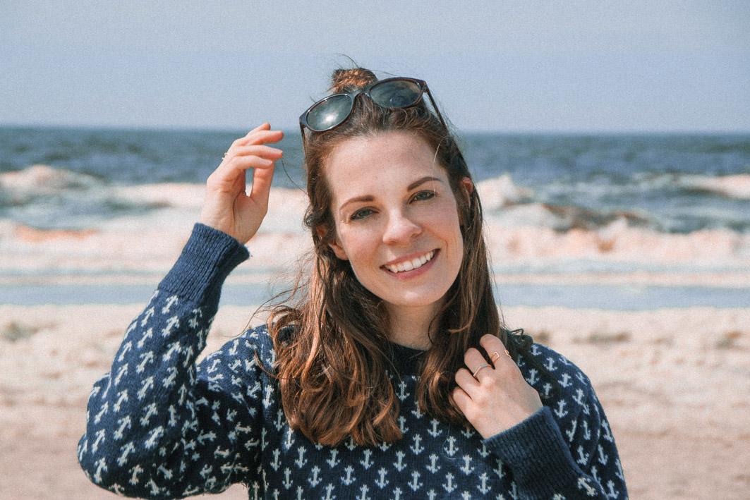 Denise im Strand in Zandvoort