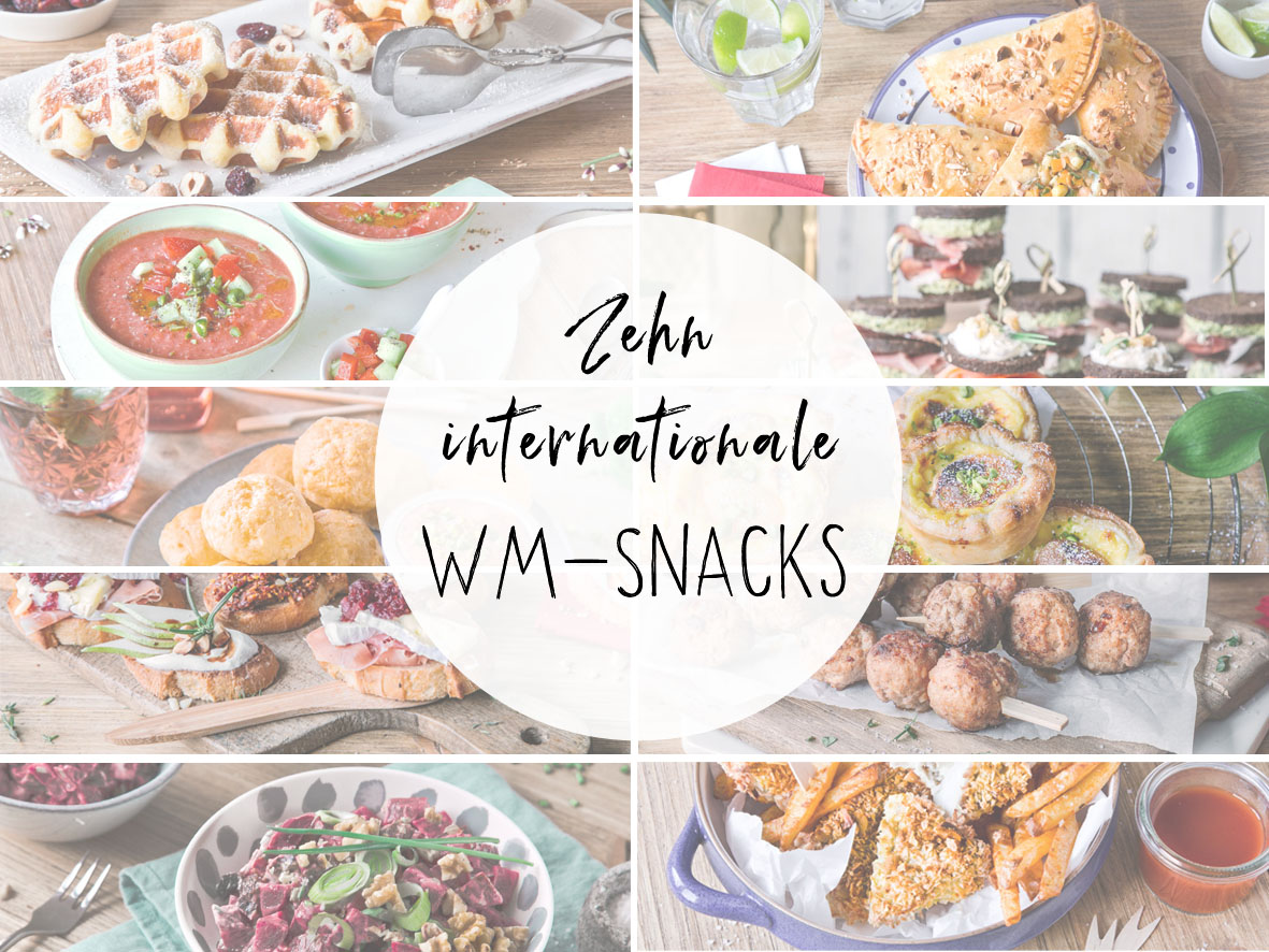Zehn internationale WM-Snacks