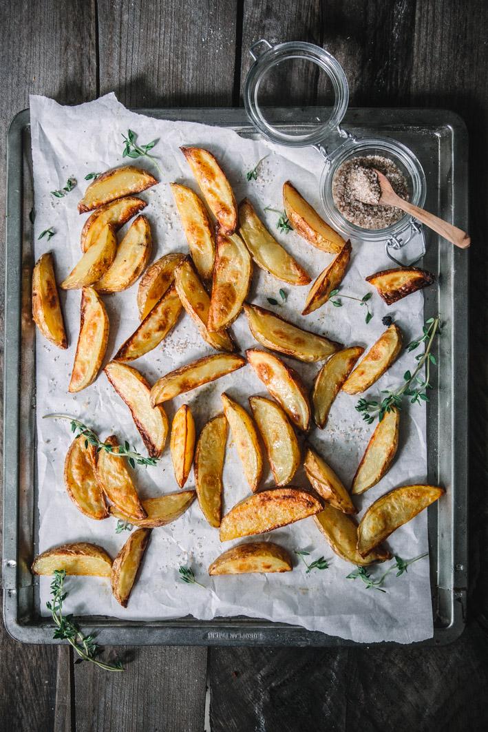 BBQ Kartoffelecken mit Rauchsalz