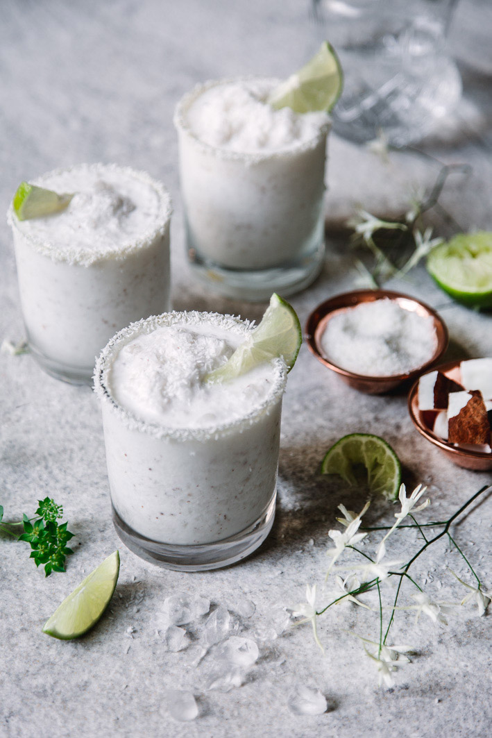 Sommerlicher Frozen Coconut Daiquiri