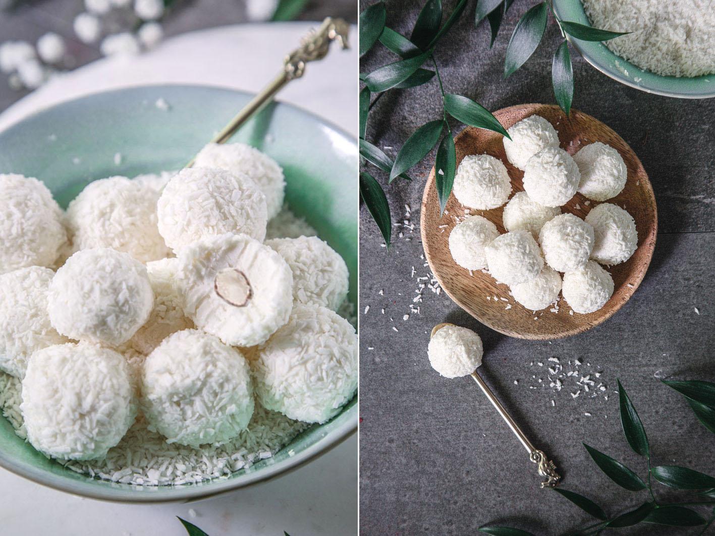 Gesunde Raffaelos ohne Zucker
