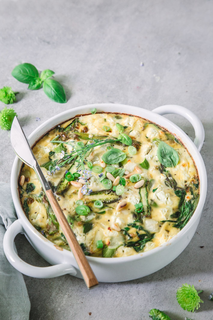 Spinat-Spargel-Frittata