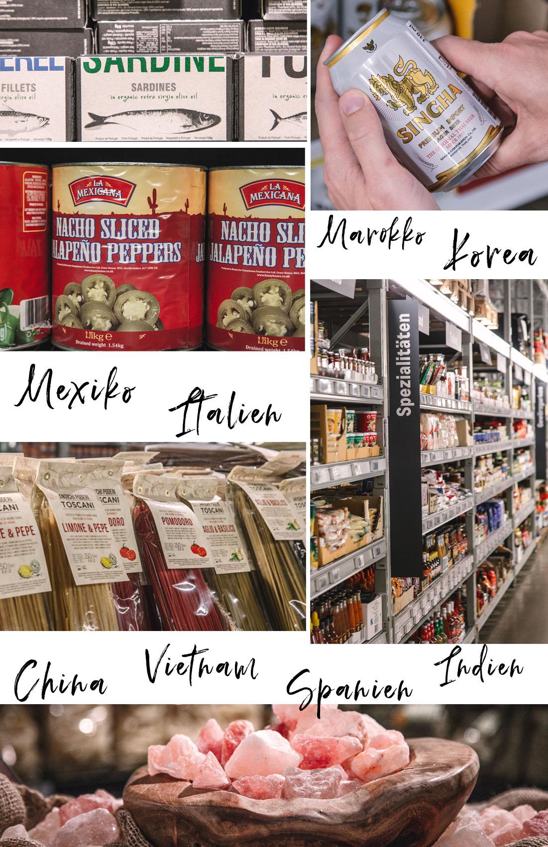 Internationale Produkte in der Metro