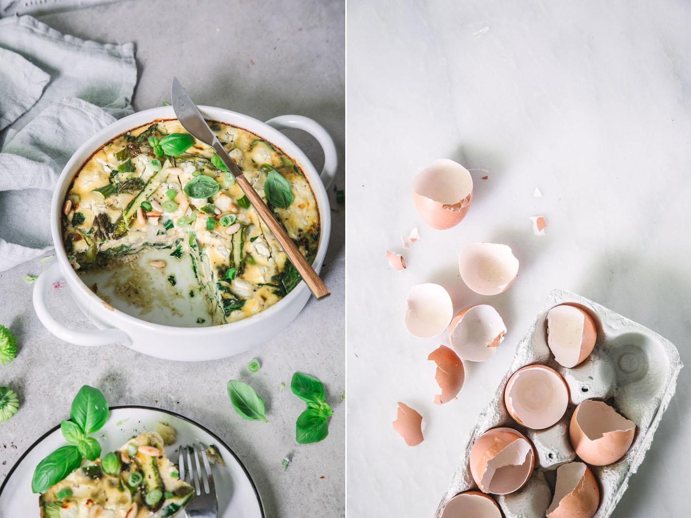 Spargel-Frittata mit Spinat
