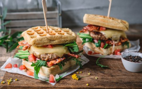 BLT Waffel-Burger