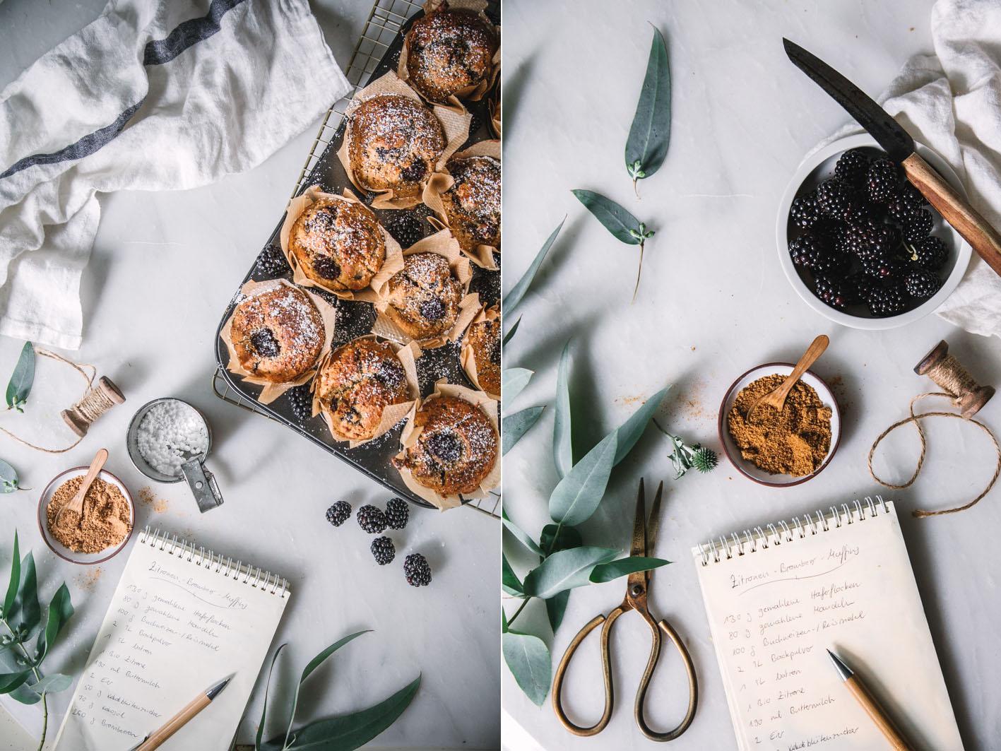 Rezept für Brombeer Zitronen Muffins