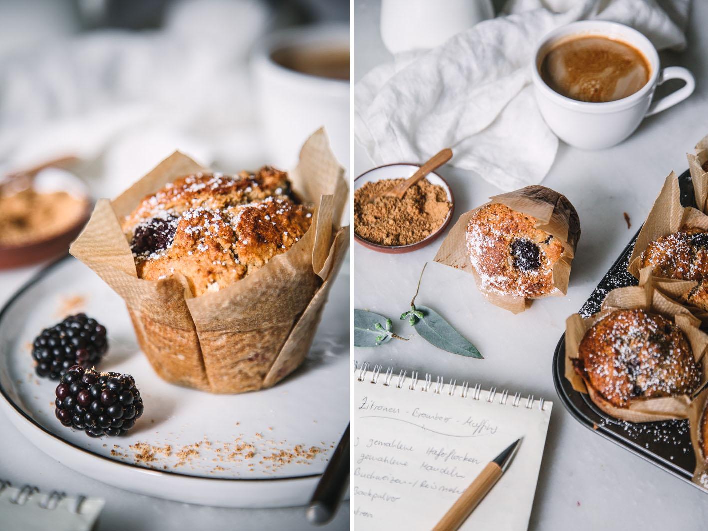 Saftige Brombeer-Zitronen-Muffins