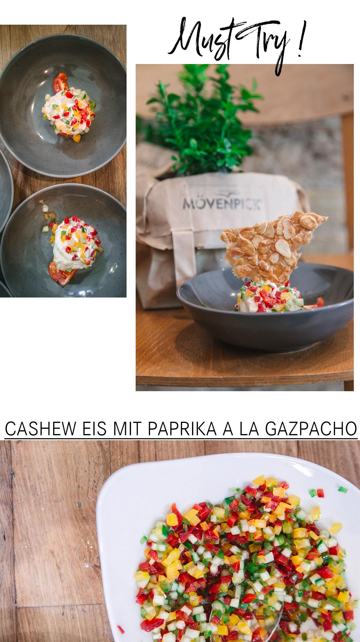 Cashew Vanille Eis mit Paprika
