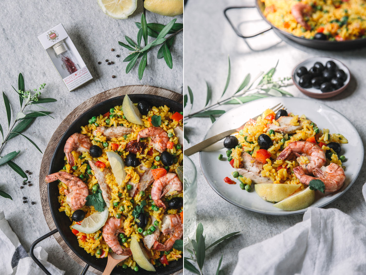 Paella Rezept mit Safran