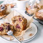 Saftige Brombeer Zitronen Muffins