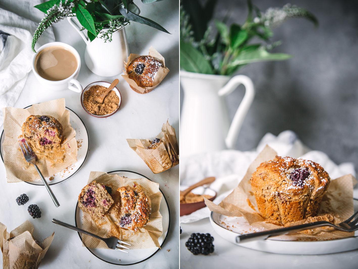 Muffins mit Brombeeren