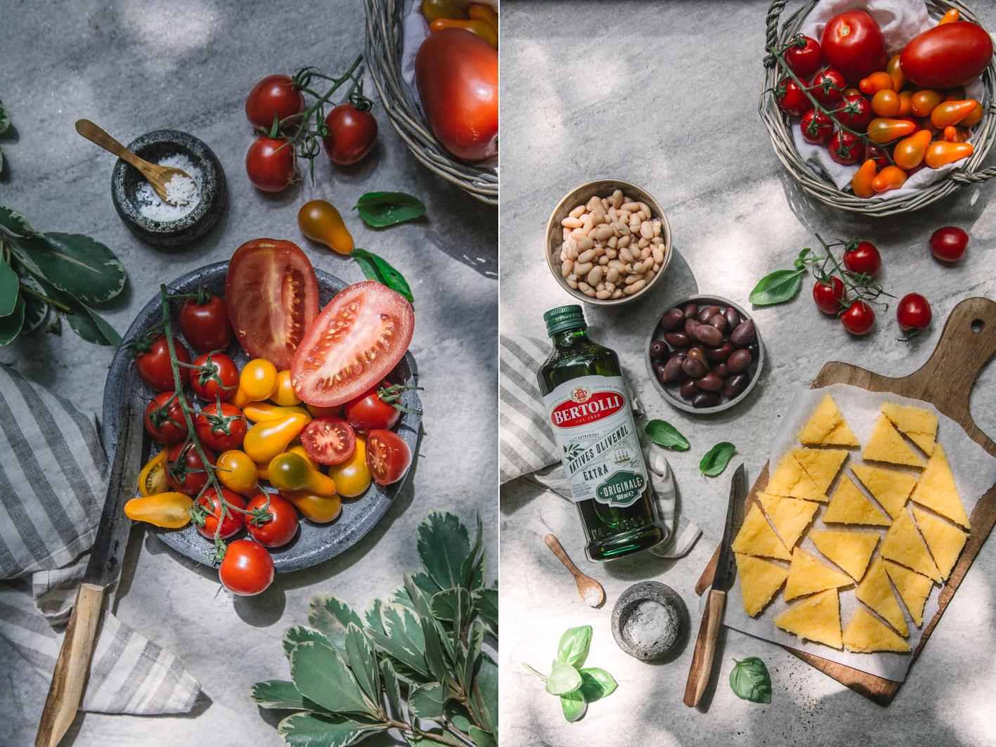 Tomaten mit Olivenöl