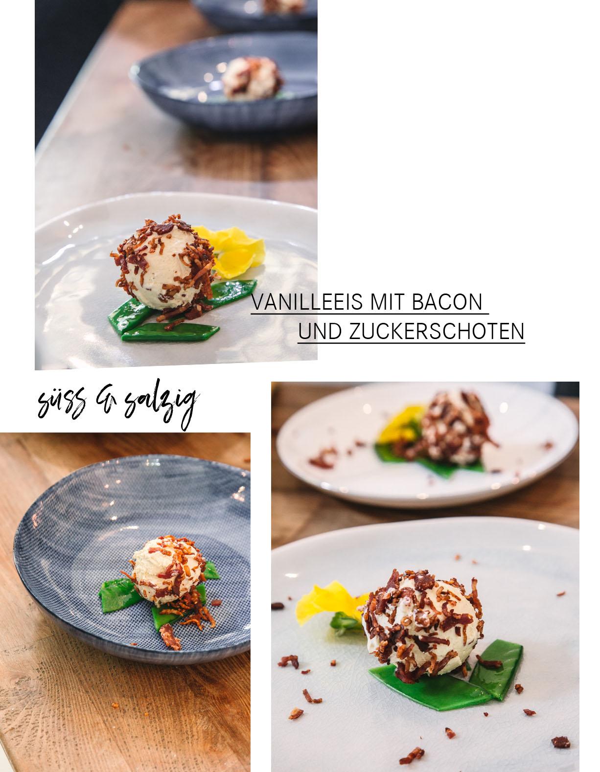 Vanilleeis mit Bacon