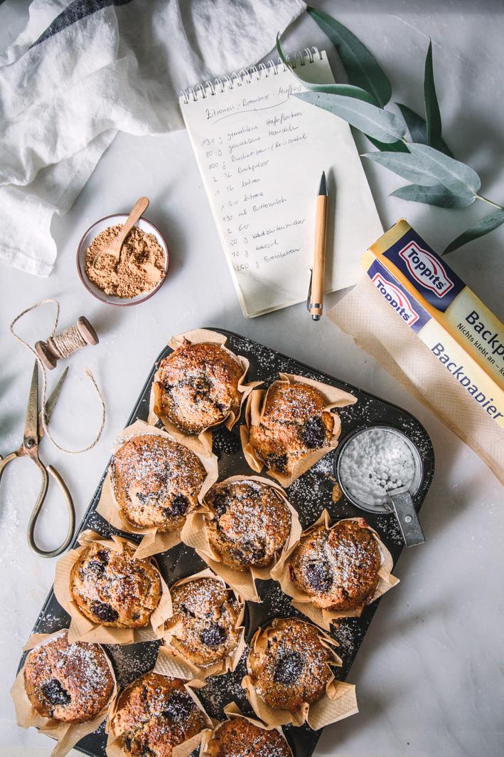 Zitronen-Brombeer-Muffins