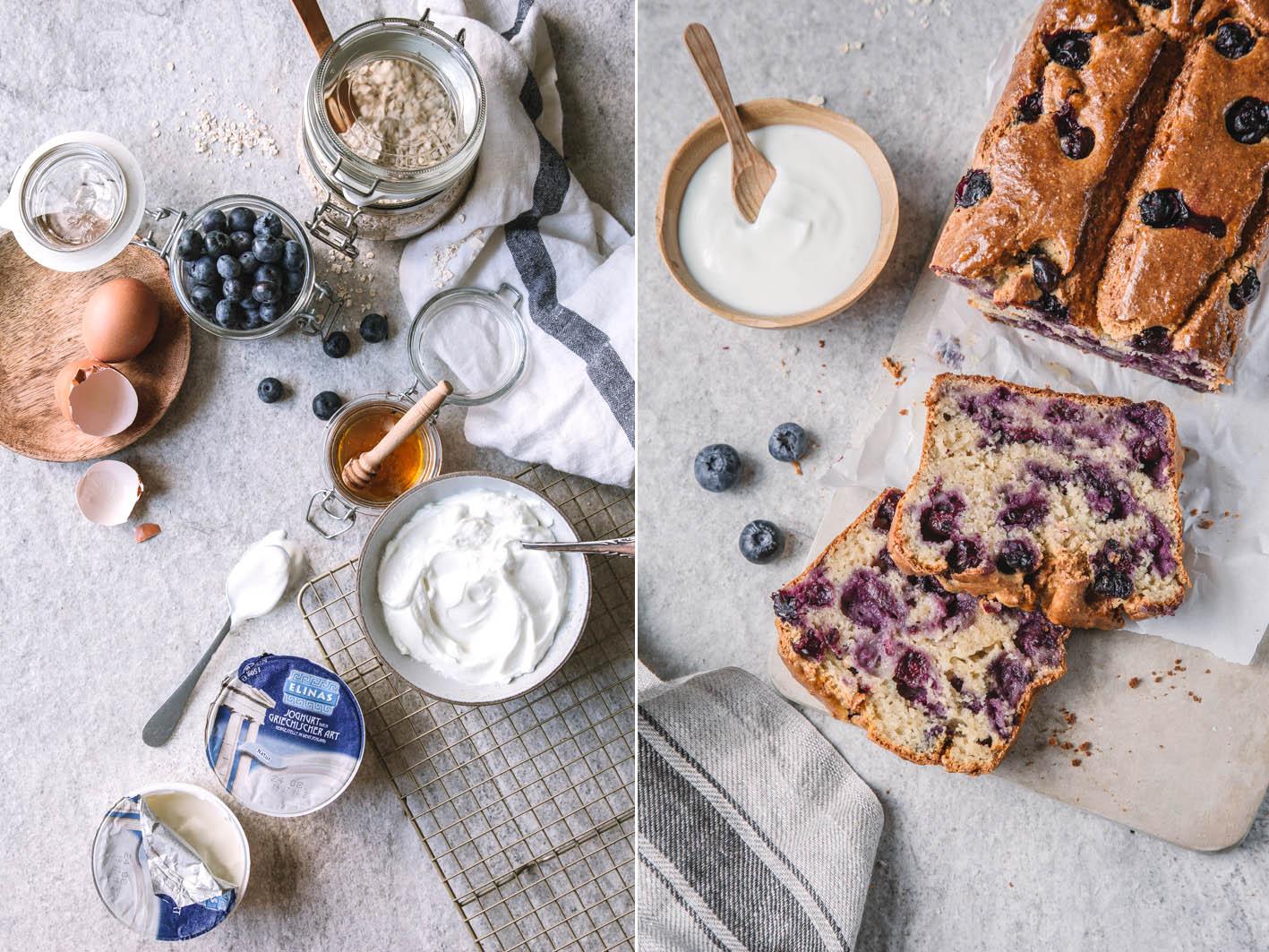 Blueberry Bread mit Joghurt und Honig