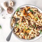 Low Carb Pasta mit Pilzen