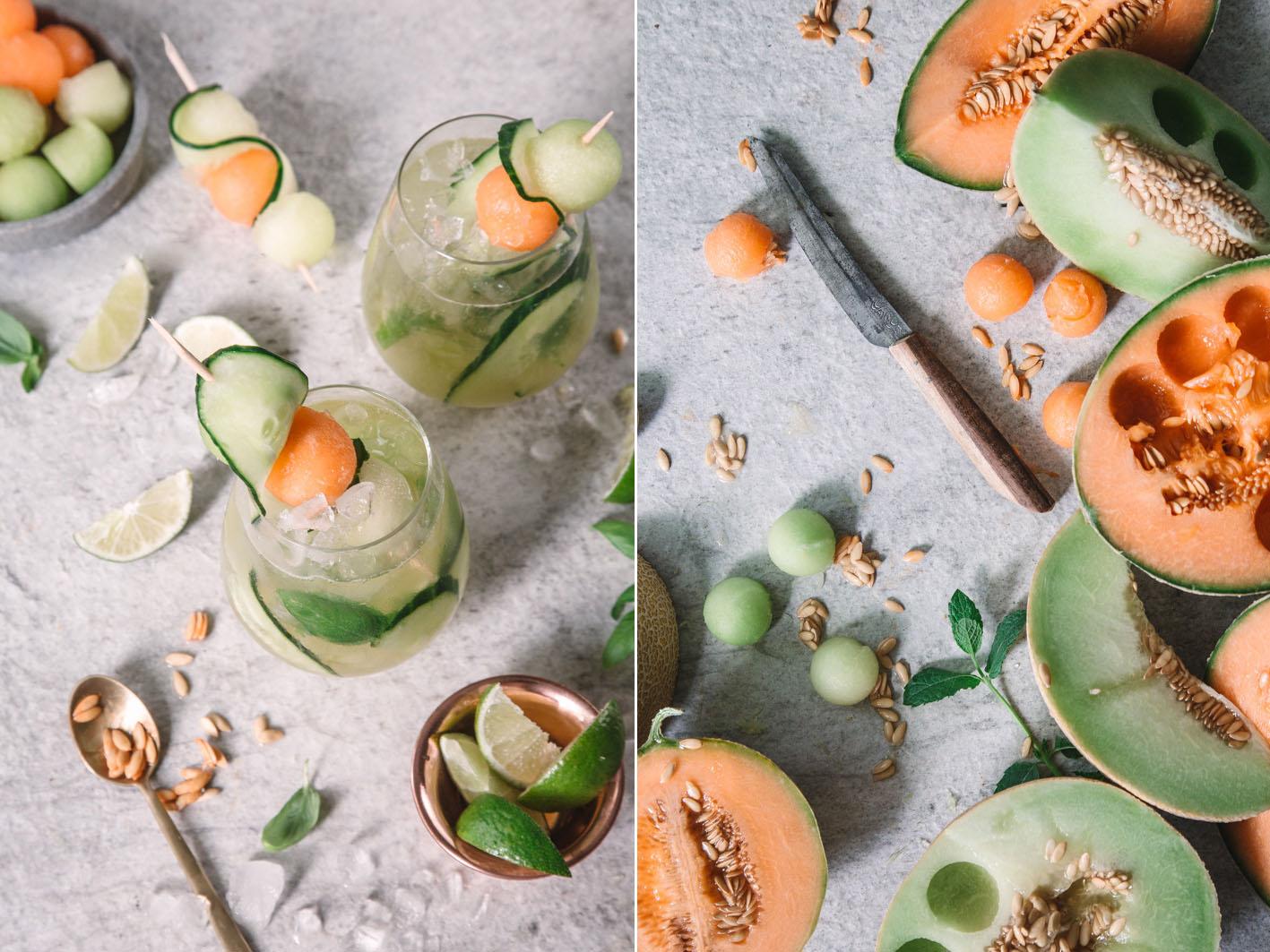 Sommerlicher Drink mit Melone