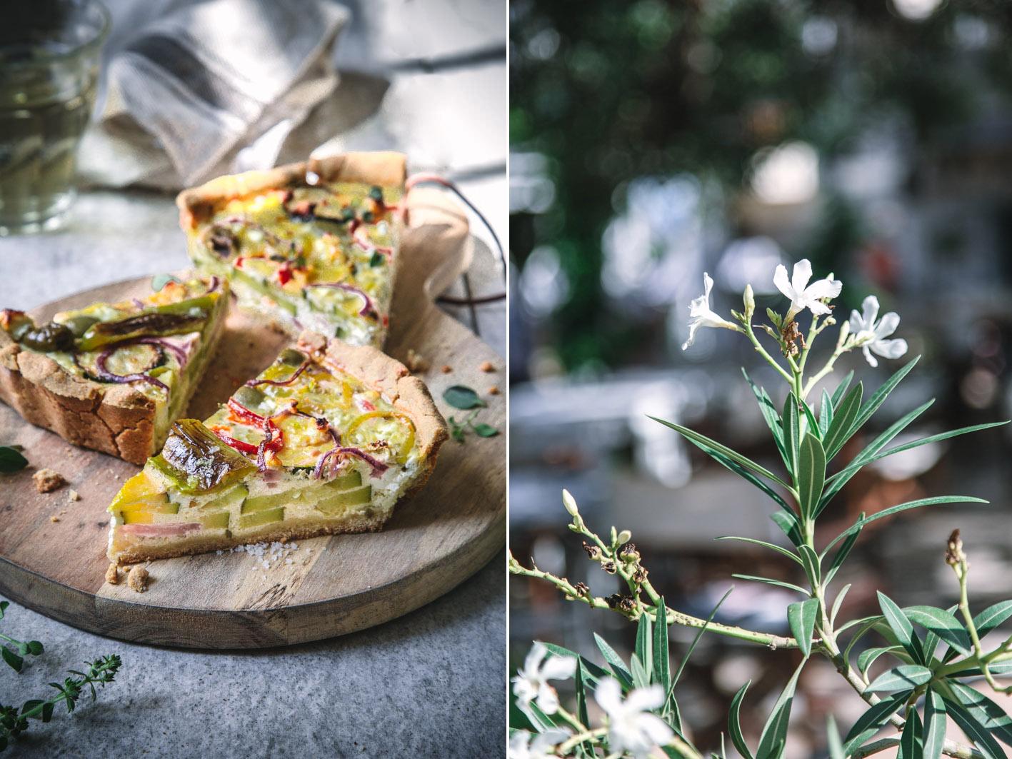 Griechische Quiche mit gemüse