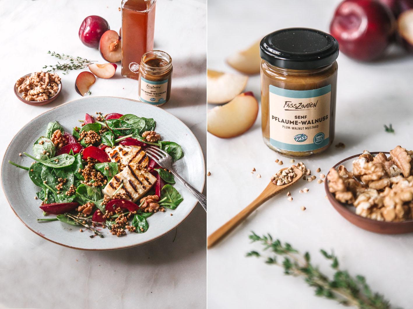 Salatdressing mit Pflaumen-Walnuss-Senf