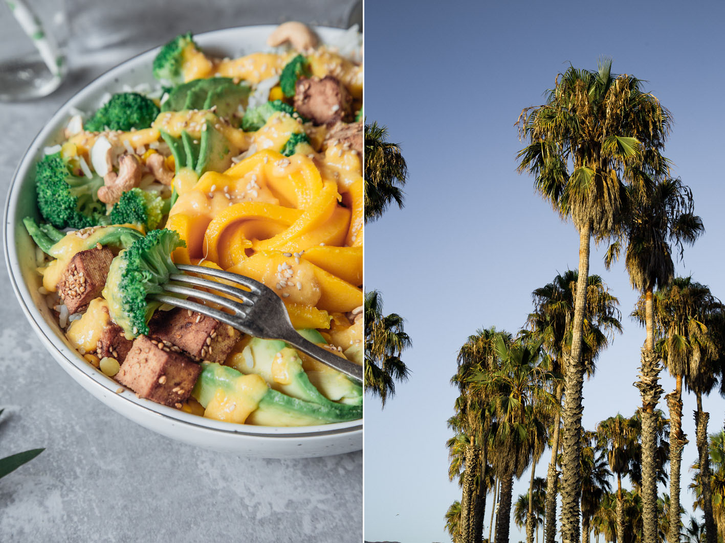 Summer Bowl mit Avocado und Sesam-Tofu