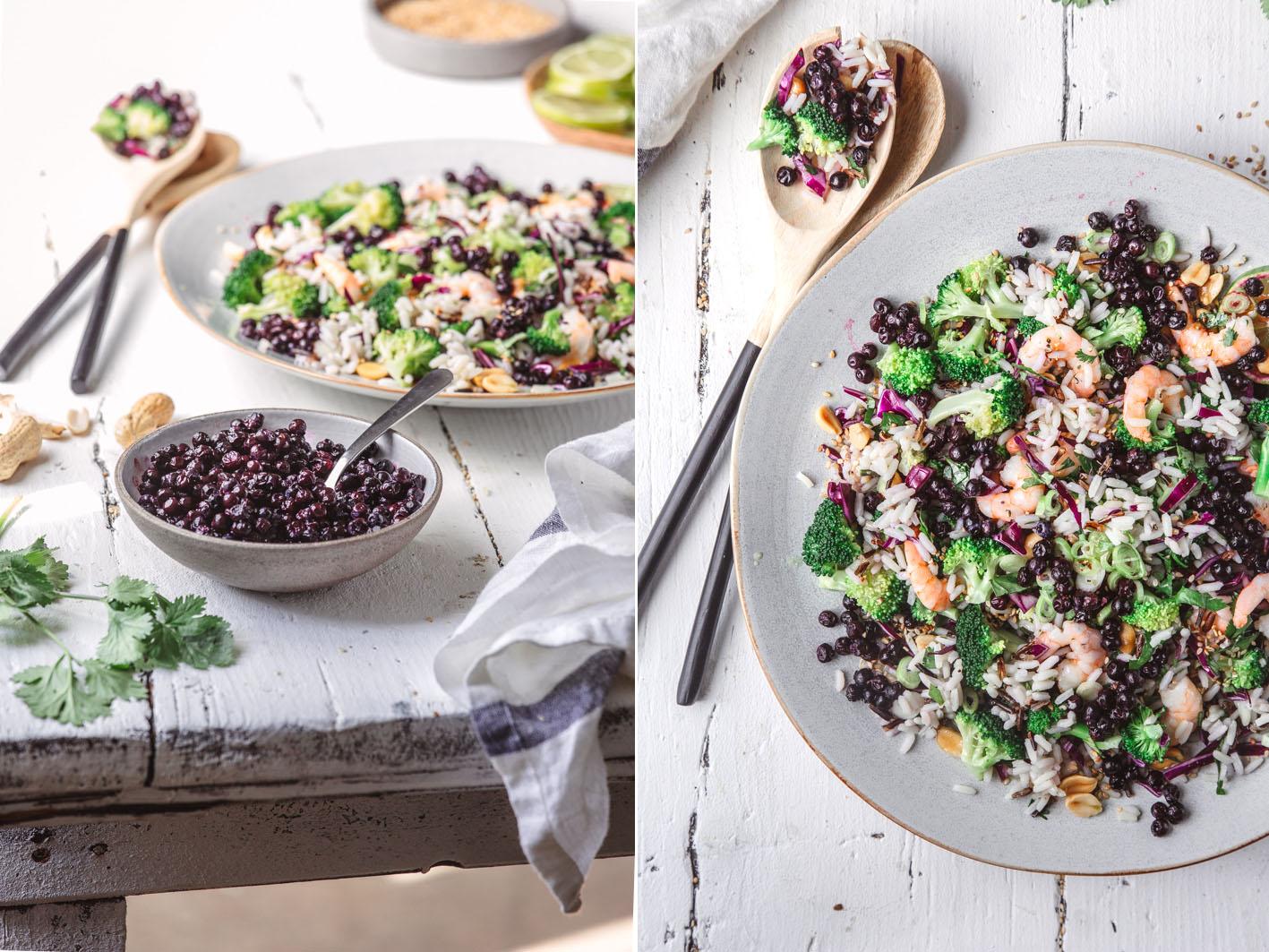 Blaubeer-Reissalat