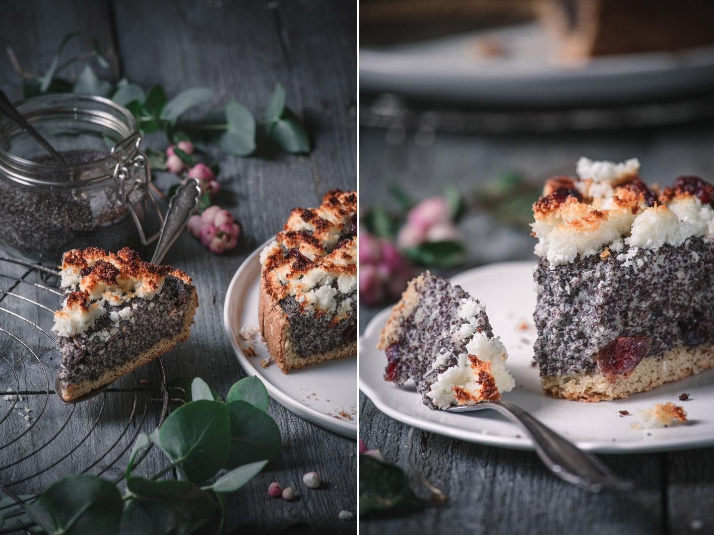 Mohnkuchen mit Kokos-Streuseln