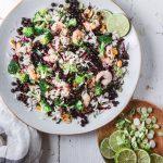 Reissalat mit wilden Blaubeeren