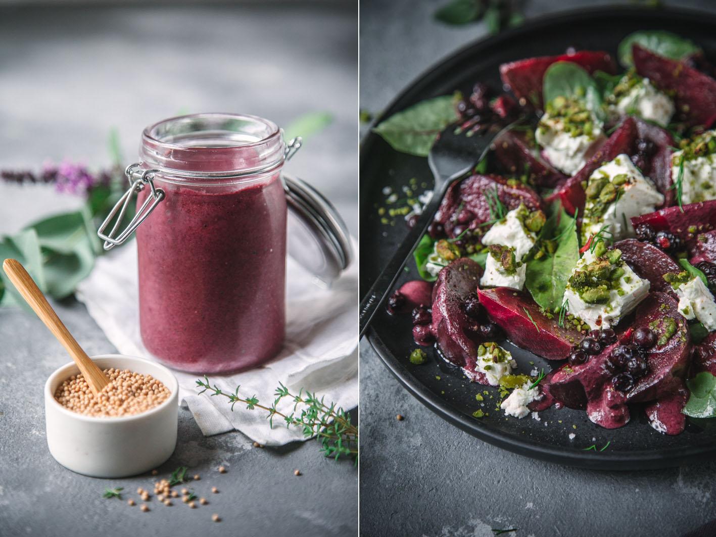 Salat mit Blaubeerdressing