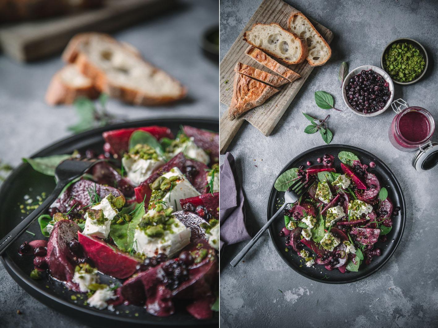 Salat mit Roter Bete und Feta