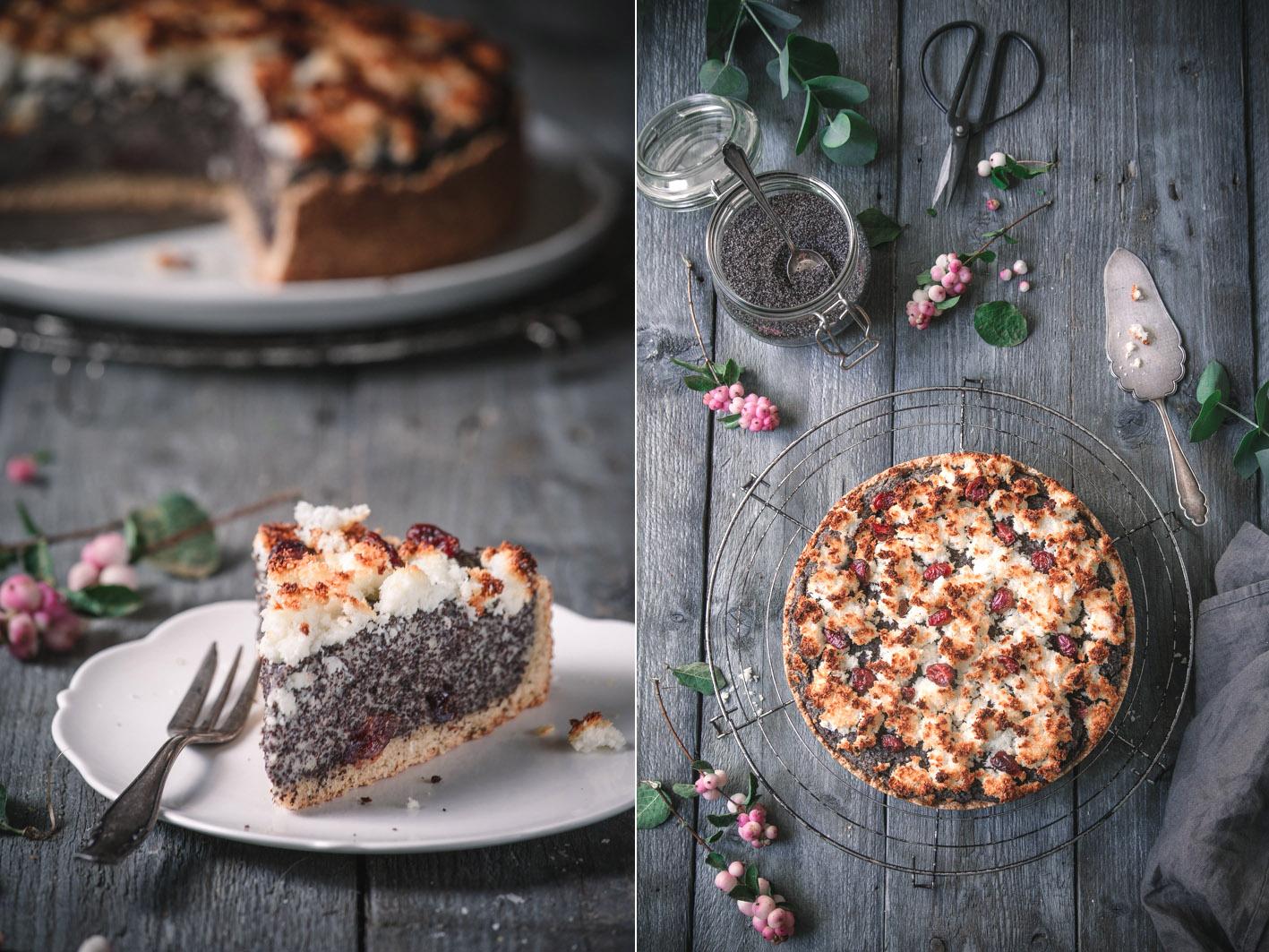 Mohnkuchen mit Kokosstreuseln