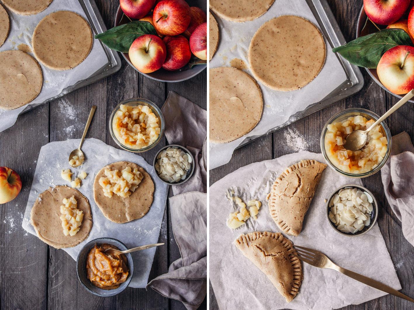 Zubereitung gesunde Apfeltaschen