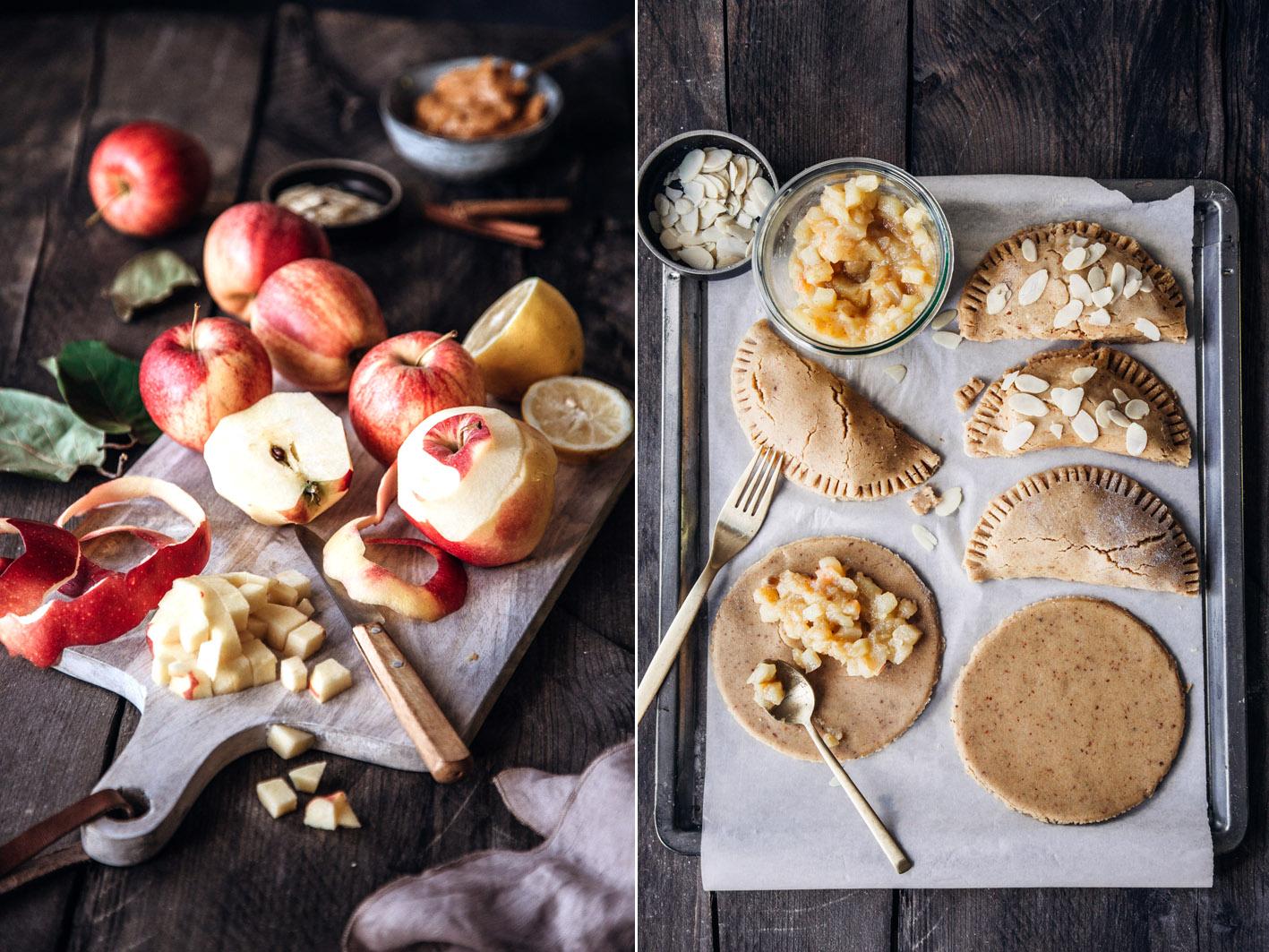 Rezept für gesunde Apfeltaschen