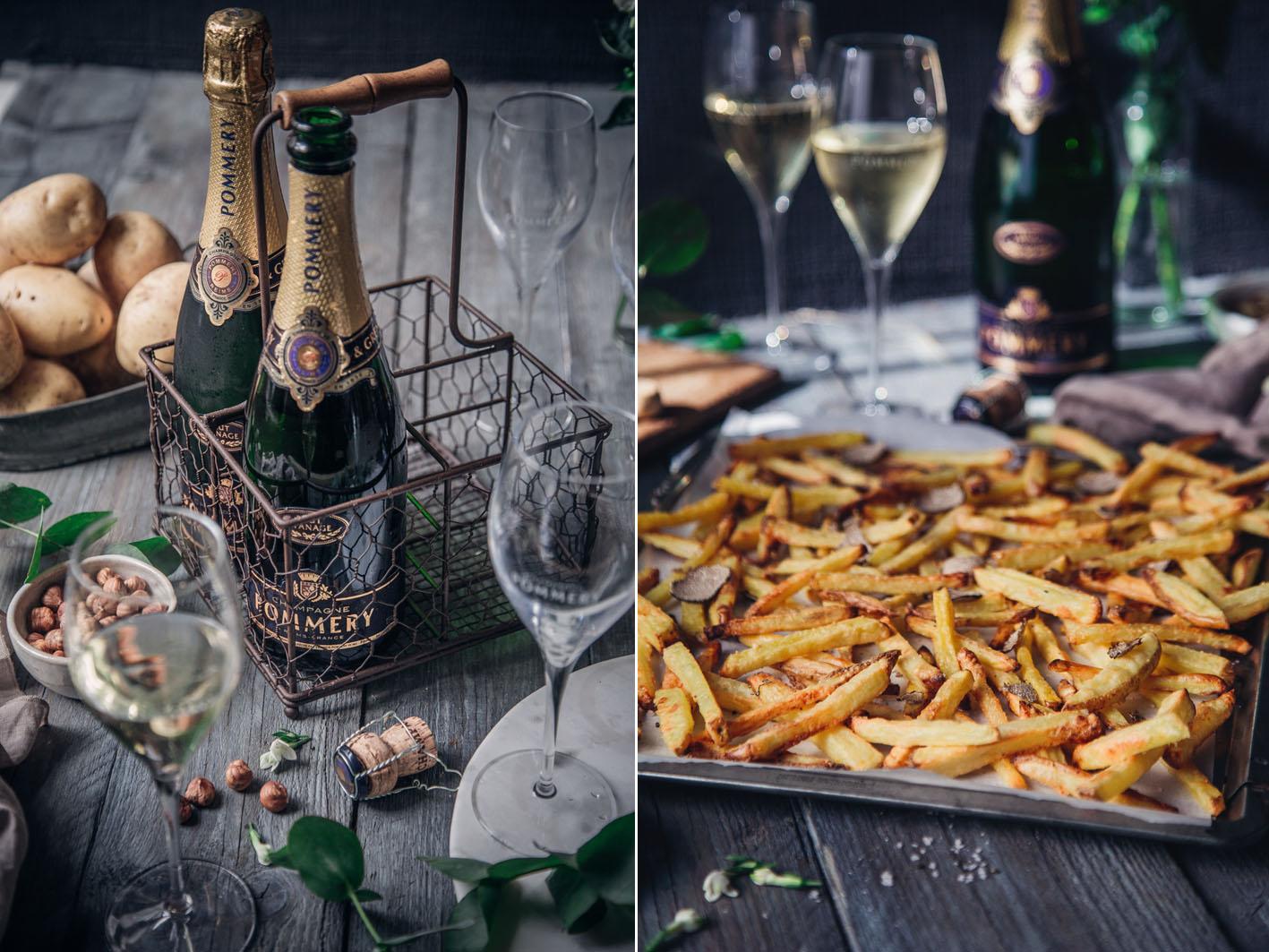 Champagner und Trüffelpommes