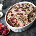 Himbeer Porridge Auflauf
