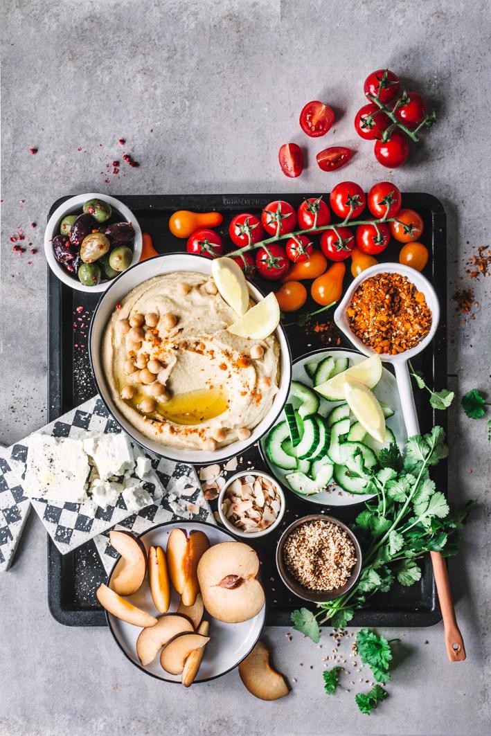 Zutaten für Loaded Hummus