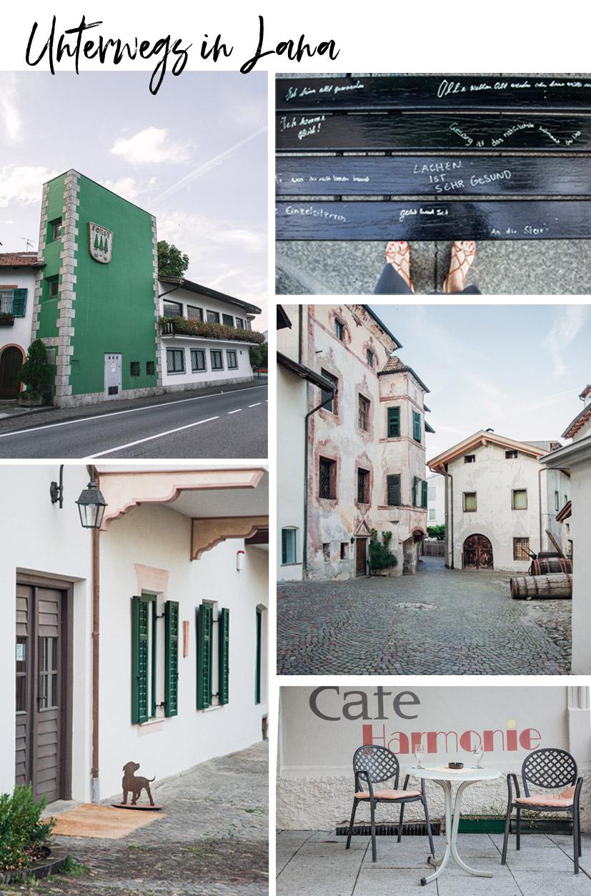Das Dorf Lana in Südtirol