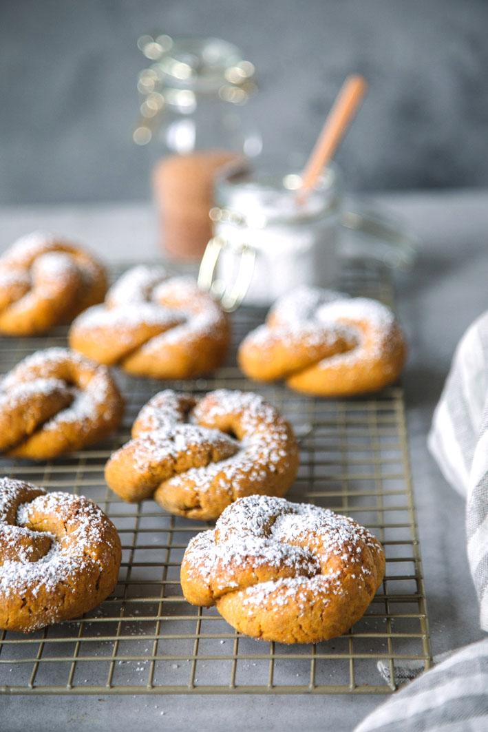 Süße Kürbisbrötchen (glutenfrei)