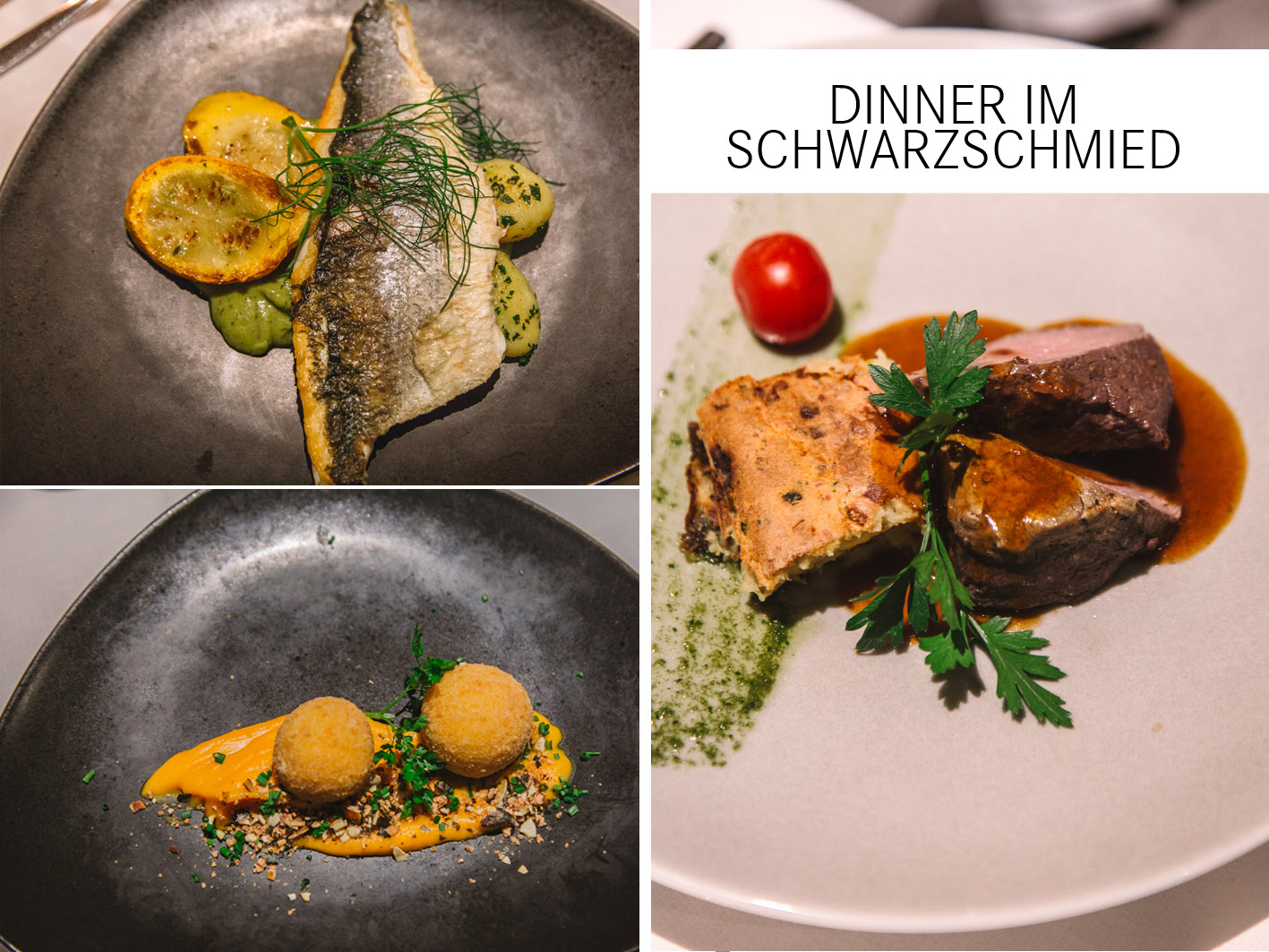 Dinner im Hotel Schwarzschmied in Südtirol