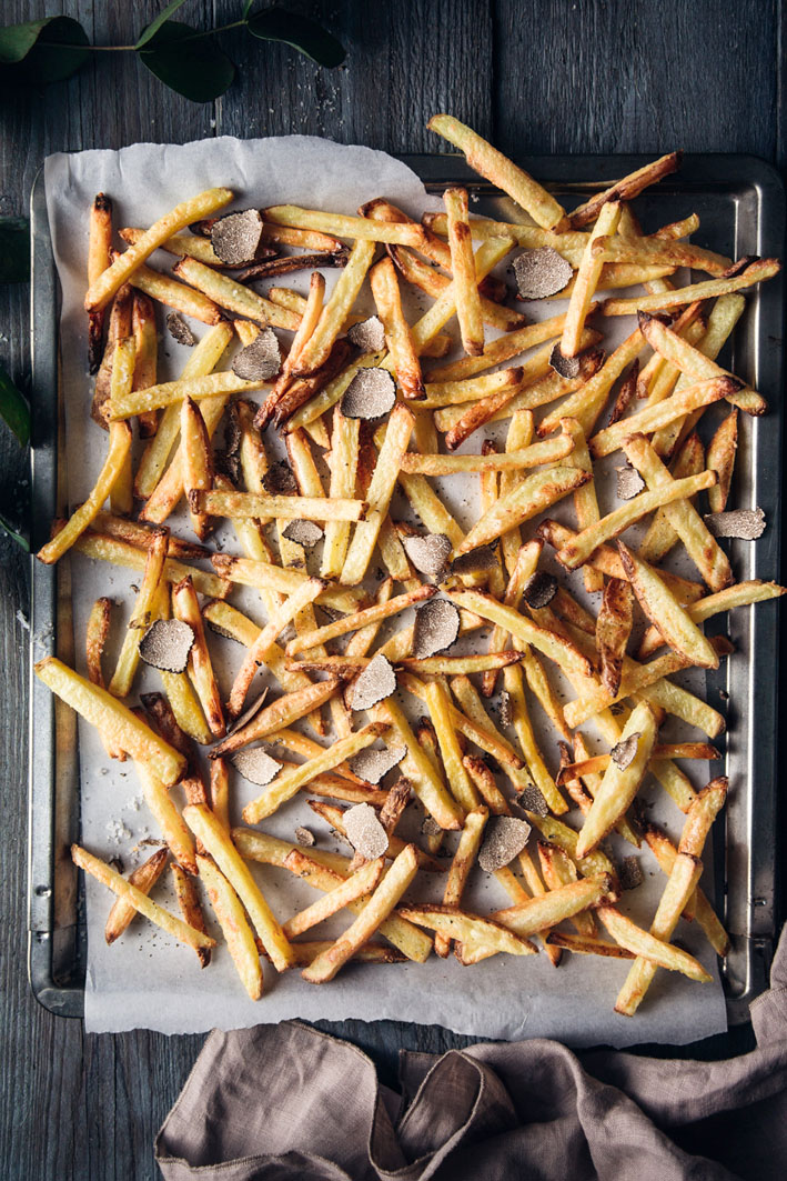 Rezept für Trüffelpommes aus dem Ofen