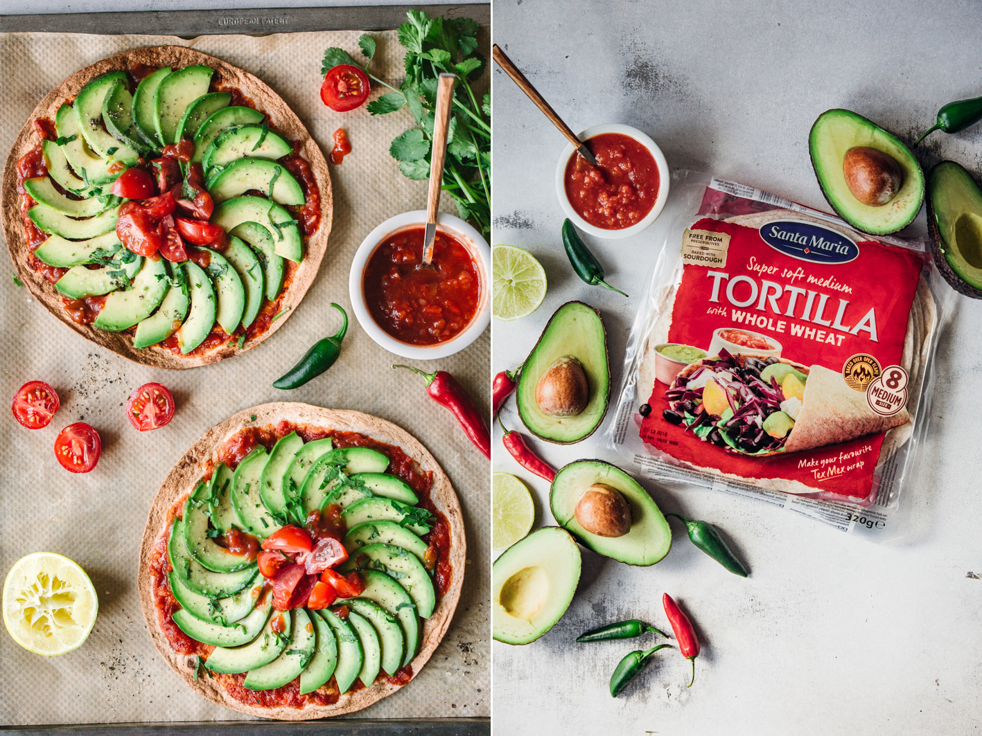 Avocado-Tortilla Pizza