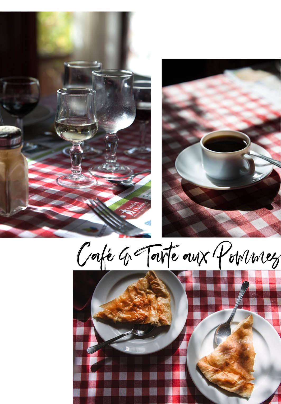 Café und Tarte aux Pommes