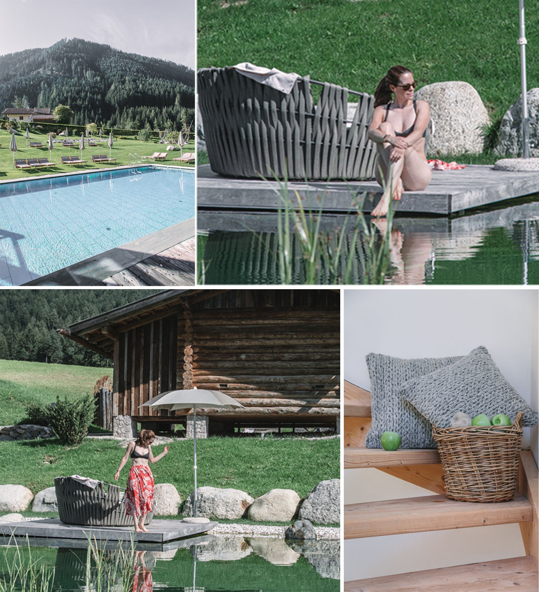 Pool im Cyprianerhof in Südtirol