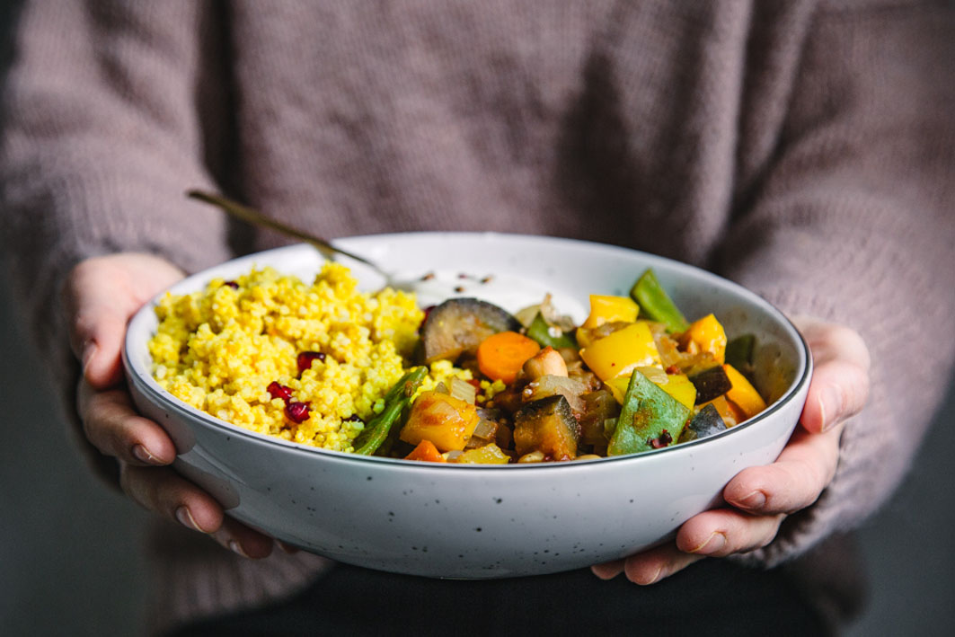 Gemüseeintopf mit Hirse