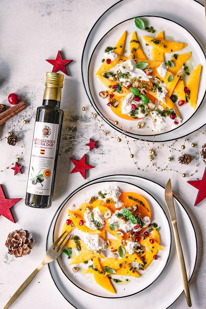 Mango-Carpaccio mit BUrrata