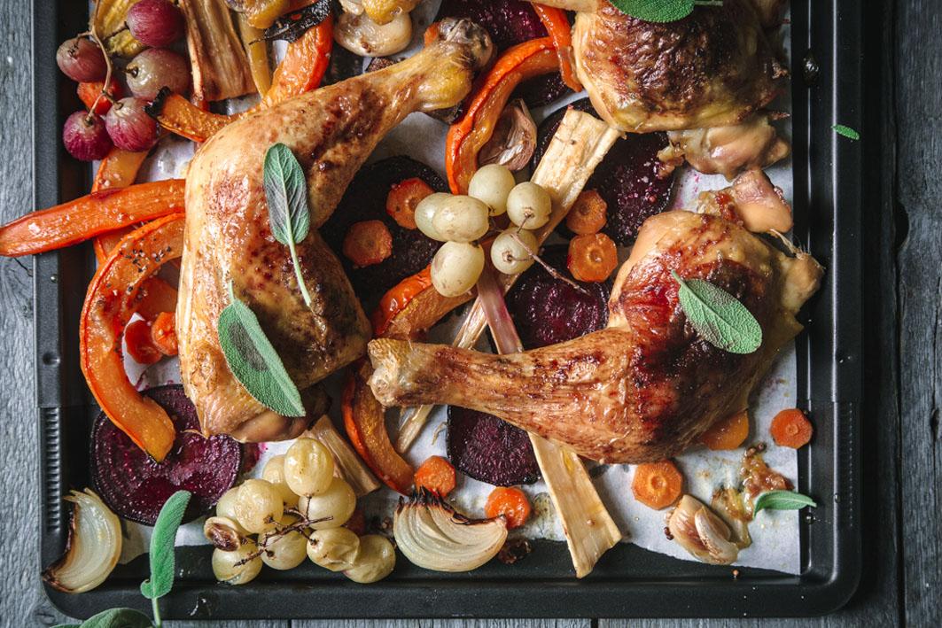 Ofengemüse mit Hähnchen