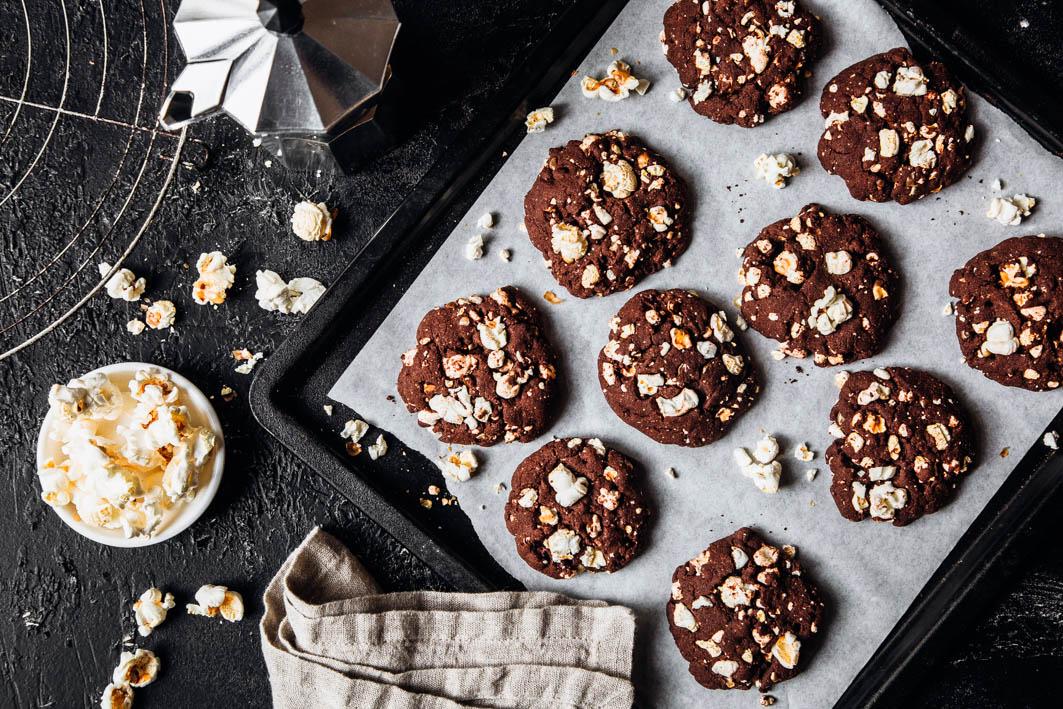 Schokoladen-Popcorn-Cookies