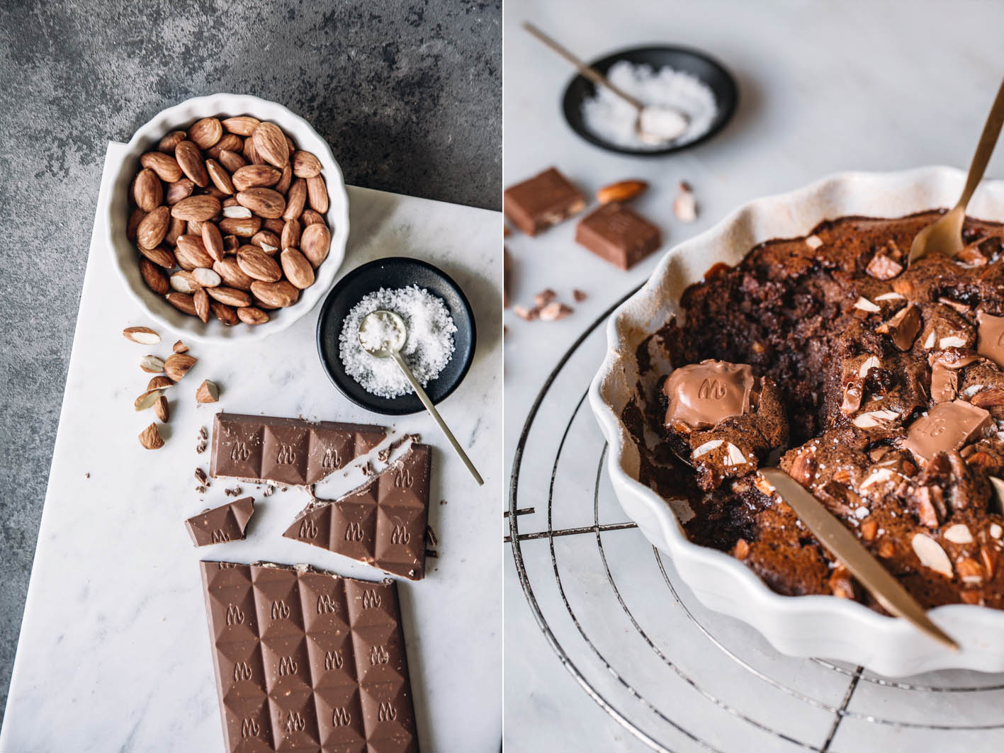 Salzmandel-Schokoladenaufauf