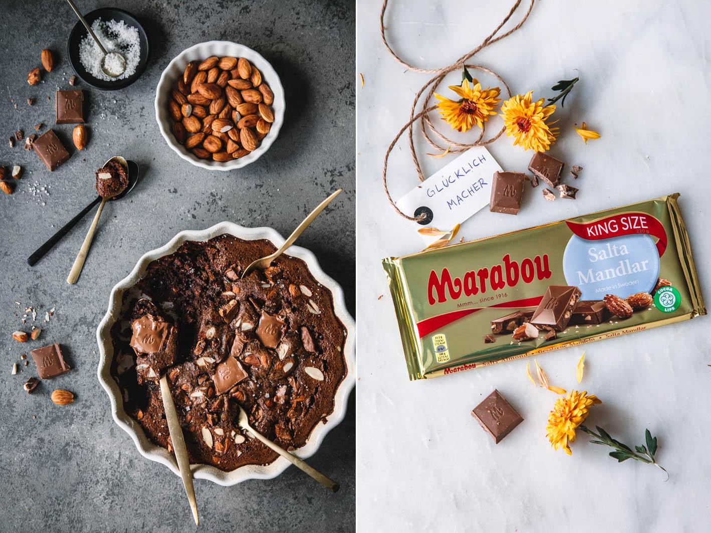 Schokoladenauflauf mit Salzigen Mandeln