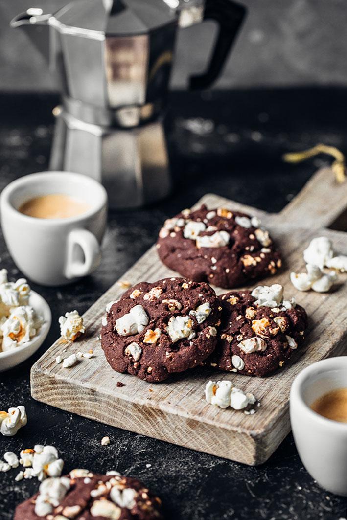 Schoko-Popcorn-Cookies