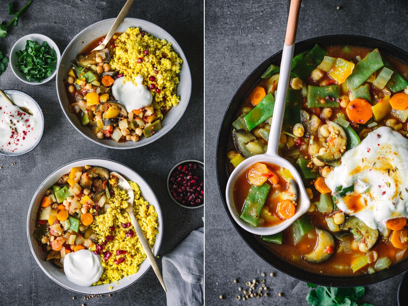 Wärmender Gemüseeintopf mit Safran